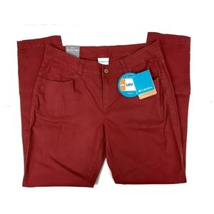 Columbia Burgundy Active Fit Straight Leg Jeans